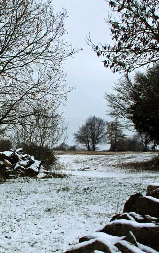 Cotswolds in the snowy winter
